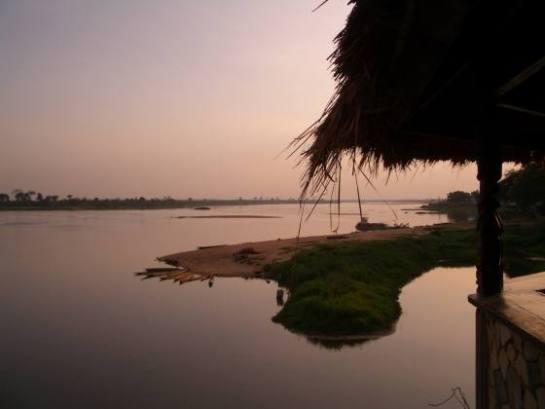 Ubangi River in der Zentralafrikanischen Republik